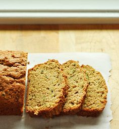 I'm pretty sure that zucchini bread is the whole reason that zucchini exists. The shredded zucchini gives this bread a subtle sweetness and a soft texture.
