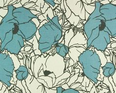 Home Decor Fabric Yardage Cottage Floral Slate Blue by decorate23 $10 yd