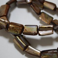 1 Strand Brown Mother of Pearl Shell Beads  10 by ThisPurplePoppy