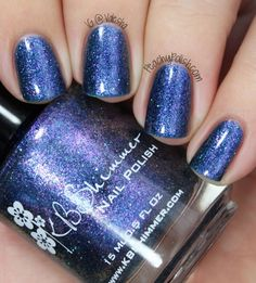 """""""Pigment Of My Imagination"""" is a multichrome that shows mainly purple and has pink and blue shimmer."""