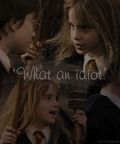 """""""Harry no way. You heard what Madam Hooch said. Besides you can't even fly"""""""