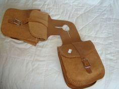 Roughout Leather Pommel Saddle Bag Horse Trailriding   eBay