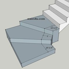 problem with winder stair walkline interpretation - Stairs Tile Stairs, Basement Stairs, House Stairs, Basement Layout, Basement Ideas, Escalier Art, Stair Dimensions, Winder Stairs, Winding Staircase