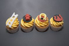 cute firefighter birthday cupcakes