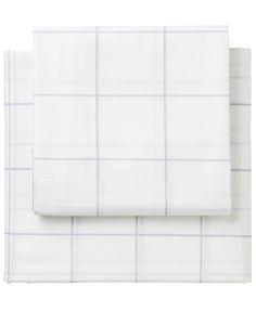 Supercale grafisk design sengesæt lyseblå