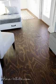 Video:How to Stain Plywood Floor Subfloor Flooring: Tiny House Build [Episode 13] | Easy DIY Projects from Ana White