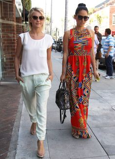 Spring Outfit Ideas   Julianne Hough and Olivia Munn in LA