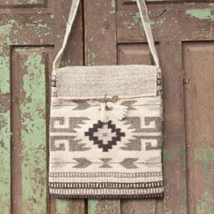 NOVICA Authentic Zapotec Shoulder Bag of Handwoven Wool
