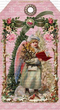 Attic Christmas Pink Snowflake & Roses Sheet 2