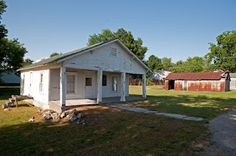 Route 66 Road Trip - Mickey Mantle's childhood home in Commerce, OK.