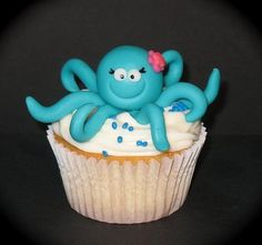 She's turning 8! We're planning on an indoor swimming pool party .... 8 legs, swimming ... made me think: OCTOPUS!