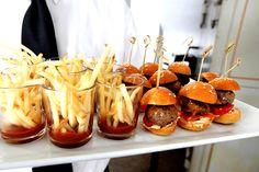 fries and meatball sliders. #wedding #halloween