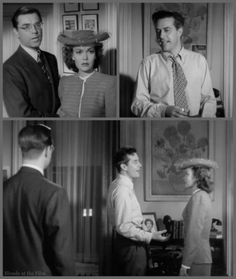 The Lost Weekend: Ray Milland, Phillip Terry, and Jane Wyman