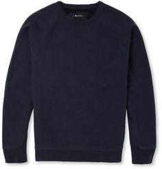 Alexander Wang - Fleece-Back Cotton-Blend Jersey Sweatshirt|MR PORTER