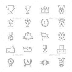 Animals Icons Line Set Of Vector Illustration