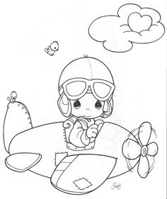 airplane pilot, coloring pages,