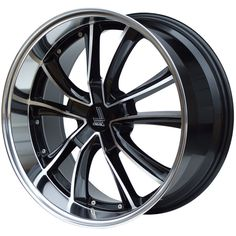 LENSO ES7 GLOSS BLACK POLISHED FACE&LIP alloy wheels with stunning look for 5 studd wheels in GLOSS BLACK POLISHED FACE&LIP finish with 18 inch rim size