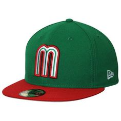 huge discount e4a62 a1630 Mexico Baseball New Era World Baseball Classic Qualifier Team 59FIFTY Fitted  Hat - Green Red
