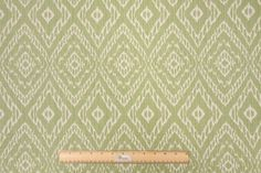 Robert Allen Strie Ikat Rayon & Cotton Upholstery Fabric in Leaf