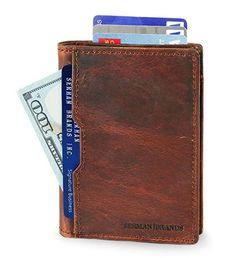 SERMAN BRANDS - Wallets for Men Slim Mens leather RFID Blocking Minimalist Card Front Pocket Bifold Travel Thin . . . . . . . . . #wallet #menswallet #mensaccessories #menfashion #walletformen #giftformen #mengifts #giftforhim #leatherwallet