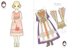 Paperdoll by Makoto Takahashi Japanese Paper, Vintage Japanese, Diy And Crafts, Paper Crafts, Kawaii Illustration, Asian Design, Vintage Paper Dolls, Toy Craft, Paper Toys