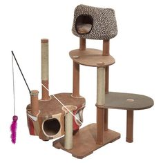 Maidenhead Cat Tree - epic cat plaything! Need help creating a pet-friendly home that is still beautiful? Call Sensibly Chic Designs for Life 704-608-9424, sensiblychic.biz.