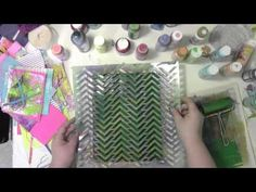 Gelli Plate and Julie Balzer Stencils with Carolyn Dube. Use a Gelli Plate with Julie Balzer's stencils to create fun papers for collage, mixed media, and art journaling. You can view the papers made here at http://acolorfuljourney.com/?p=4287