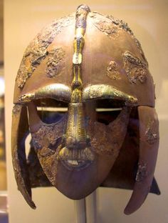 The Sutton Hoo Ship Burial Helmet - the relics of a powerful Anglo Saxon king.