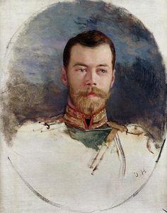 Study for a portrait of Tsar Nicholas II by Henri Gervex -1898.