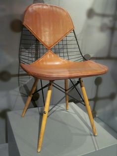Charles and Ray Eames. Wire Mesh Chair with dowel legs, 1951. California Museum