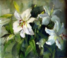 Oils - STUNNING PAINTING OF ST JOSEPH'S LILIES was sold for R2,500.00 on 14 Jul at 21:55 by The Art Collection in Cape Town (ID:70419770)