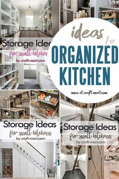 Clever storage ideas for kitchen may help you organize your space so it is both functional and beautiful. Check out our solutions for storage cabinets, pantry organization hacks, and functional storage space that can perform double duty. You'll always have a well-organized kitchen! Home Organization Hacks, Pantry Organization, Organizing Your Home, Organization Ideas, Storage Cabinets, Kitchen Storage, Storage Spaces, Storage Solutions, Storage Ideas