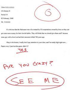 Funny kids homework