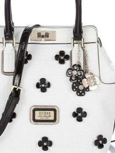 3e2cb679644e Black and white Guess handbags collection spring summer 2014 - flowers Guess  Handbags