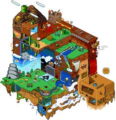 (Click any image for full-size) There are some great details in these six Mario-themed isometric pixel-art images by Red. Super Mario Art, Super Mario World, Hama Beads Minecraft, Perler Beads, Mario And Luigi, Mario Bros, How To Pixel Art, Art Hama, Arte Nerd