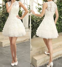 Short Lace Bridesmaid Dress White Lace Dress by Prettyobession