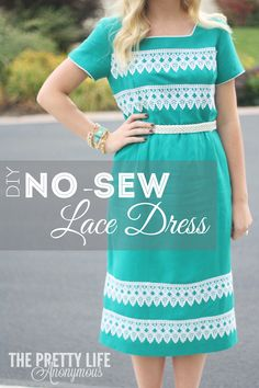 Pinned/Tried/Loved It: DIY No-Sew Lace Dress   http://prettylifeanonymous.blogspot.com/