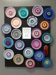 Painted Paper Plate Yarn Weaving | weaving projects for kids | art ideas for kids | fiber art for kids |