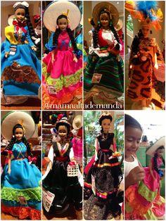Mamá de Alta Demanda: Barbie con trajes regionales mexicanos