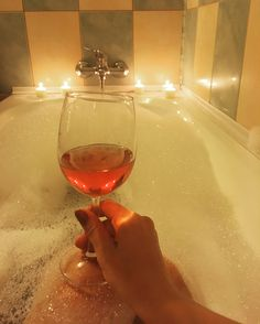 #wine #bath