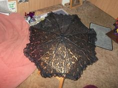 How to make an umbrella / parasol. Little Black Parasol - Step 13