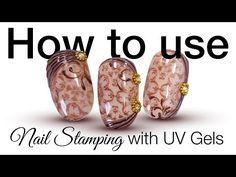 Körömnyomda használata Festő színes zselével - How to use Nail Stamping with Paint Nail Art Gel - YouTube
