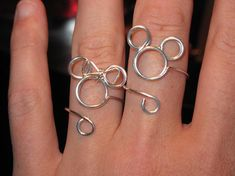Wire Wrapped Minnie or Mickey Adjustable Ring MADE to ORDER