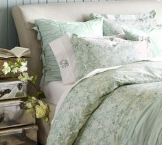 Mari Duvet Cover & Sham - Blue | Pottery Barn