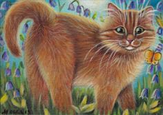 Ginger Kitty Painting