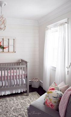 farmhouse girl nursery