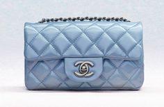 Chanel Light Blue Patent Classic Flap Rectangular Mini Bag (Cruise 2013)