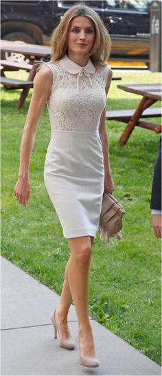Letizia, lovely in white
