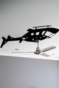 Helicopter Ceiling Fan Wall Decals:   http://www.walltat.com/Pop-Wall-Decals-s/2.htm
