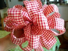 Making+Ribbon+Bows+for+Wreaths | bow with the ribbon. My sister-in-law, Jean, taught me how to make ...